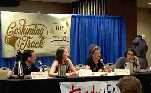 Dragon Con Costuming Track panel on corset construction featured on Georgia Film Site
